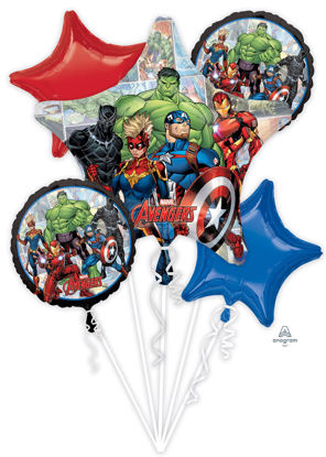Picture of Avengers Marvel Powers Unite - Foil Balloon Bouquet (5 pc)
