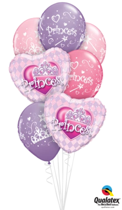Picture of Balloon Bouquet -  Princess (7pc)
