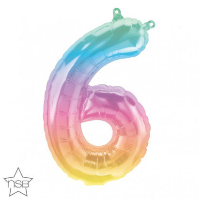 """Picture of 16"""" Number 6 Jelli Ombre (air-filled)"""