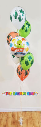 Picture of Birthday Party Cactus Balloon Bouquet of 7