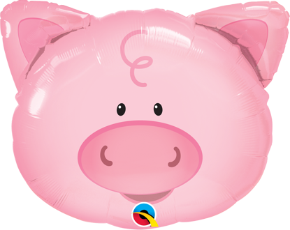 Picture of 30'' Playful Pig Foil Balloon  (helium-filled)