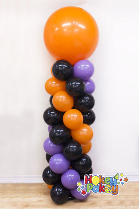 """Picture of Balloon Column (up to 4 colors) with 36"""" Topper Balloon"""