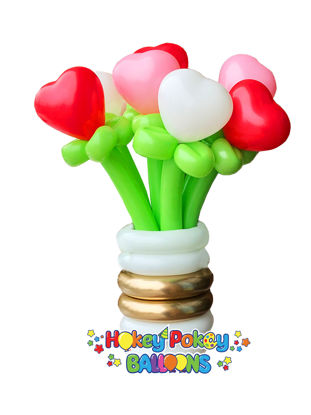 Picture of Sweetheart Balloon Bouquet of 7