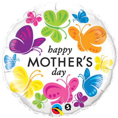 Picture of 18'' Mother's Day Vivid Butterflies - Foil Balloon  (helium-filled)