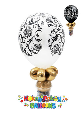 """Picture of 11"""" Damask Balloon Candy Cup"""