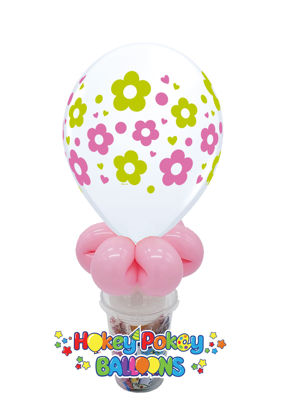 """Picture of 11"""" Daisies Balloon Candy Cup"""