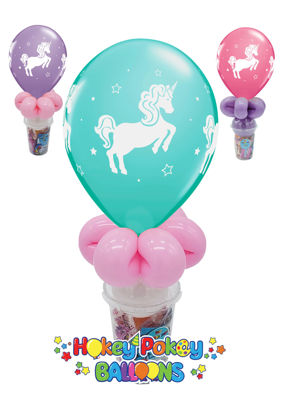 """Picture of 11"""" Whimsical Unicorn - Balloon Candy Cup"""