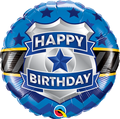 Picture of 18'' Birthday Badge Foil Balloon (helium-filled)