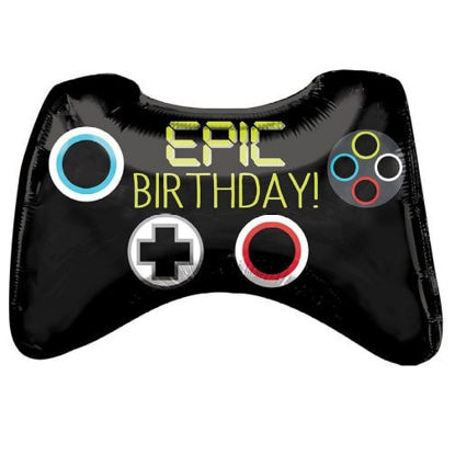 "Picture of 28"" Epic Birthday Video Game Controller - Foil Balloon  (helium-filled)"