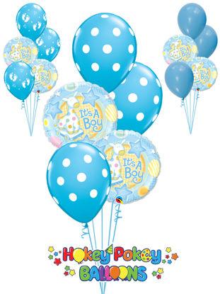Picture of It's A Boy Soft Giraffe Balloon Bouquet