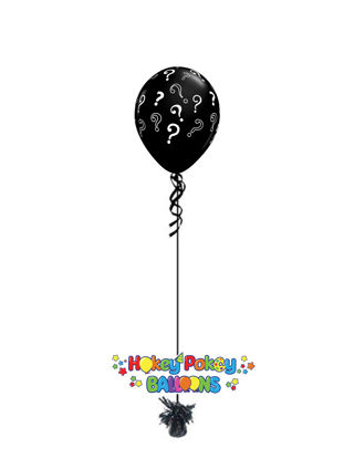 Picture of 16'' Question Marks Gender Reveal Balloon (helium-filled)