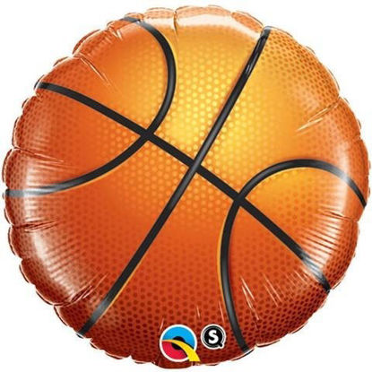 "Picture of 18"" Basketball Foil Balloon (helium-filled)"