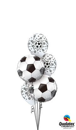 Picture of Big Kicker Soccer Balls - Balloon Bouquet (5 pc)