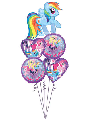 Picture of My Little Pony Rainbow Dash - Balloon Bouquet  (5pc)