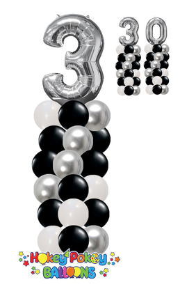 Picture of Classic Balloon Column (up to 4 colors) with Foil Number